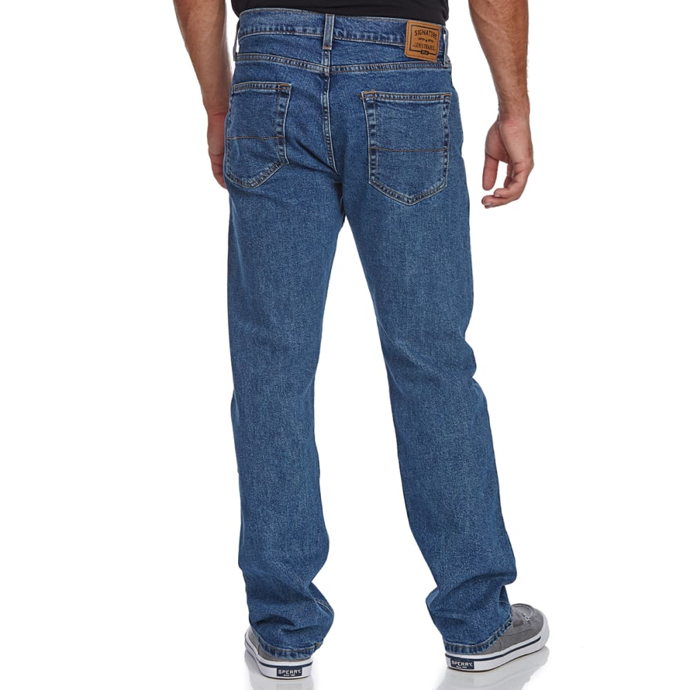 SIGNATURE by Levi Strauss & Co. Gold Label Men's Regular Fit Jeans - MED STONEWASH 0080
