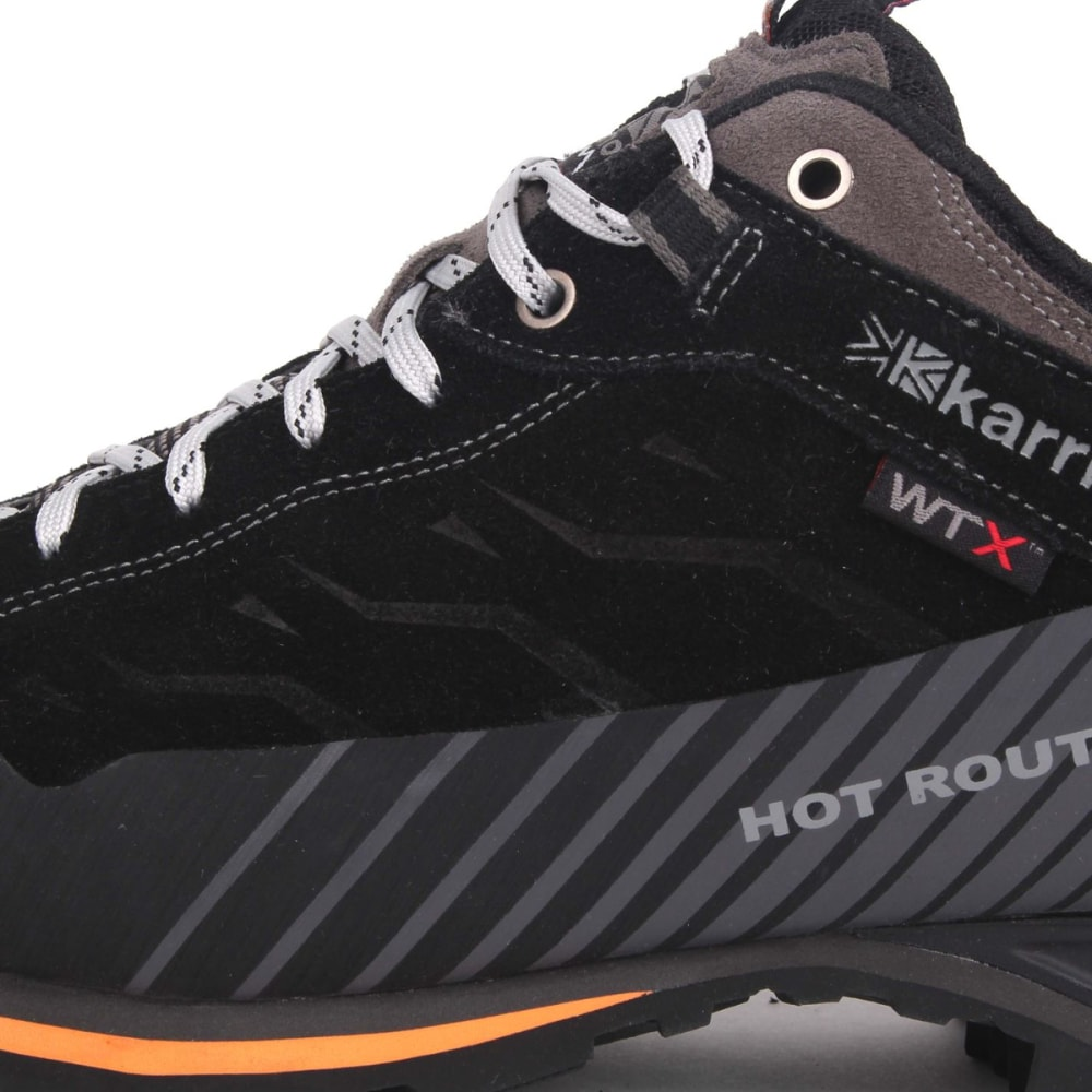 KARRIMOR Men's Hot Route WTX Waterproof Low Hiking Shoes - BLACK/ORANGE
