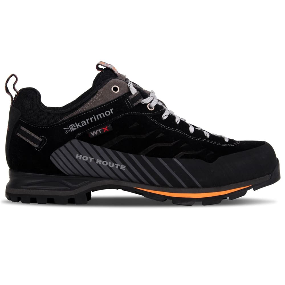 53046fa7ca4425 KARRIMOR Men  39 s Hot Route WTX Waterproof Low Hiking Shoes - BLACK  ...
