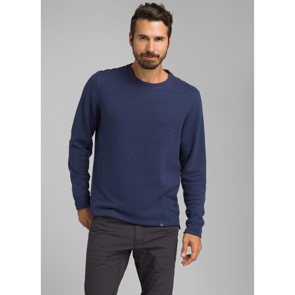 PRANA Men's Norcross Crew Long-Sleeve Pullover - BLUE ANCHOR HTR