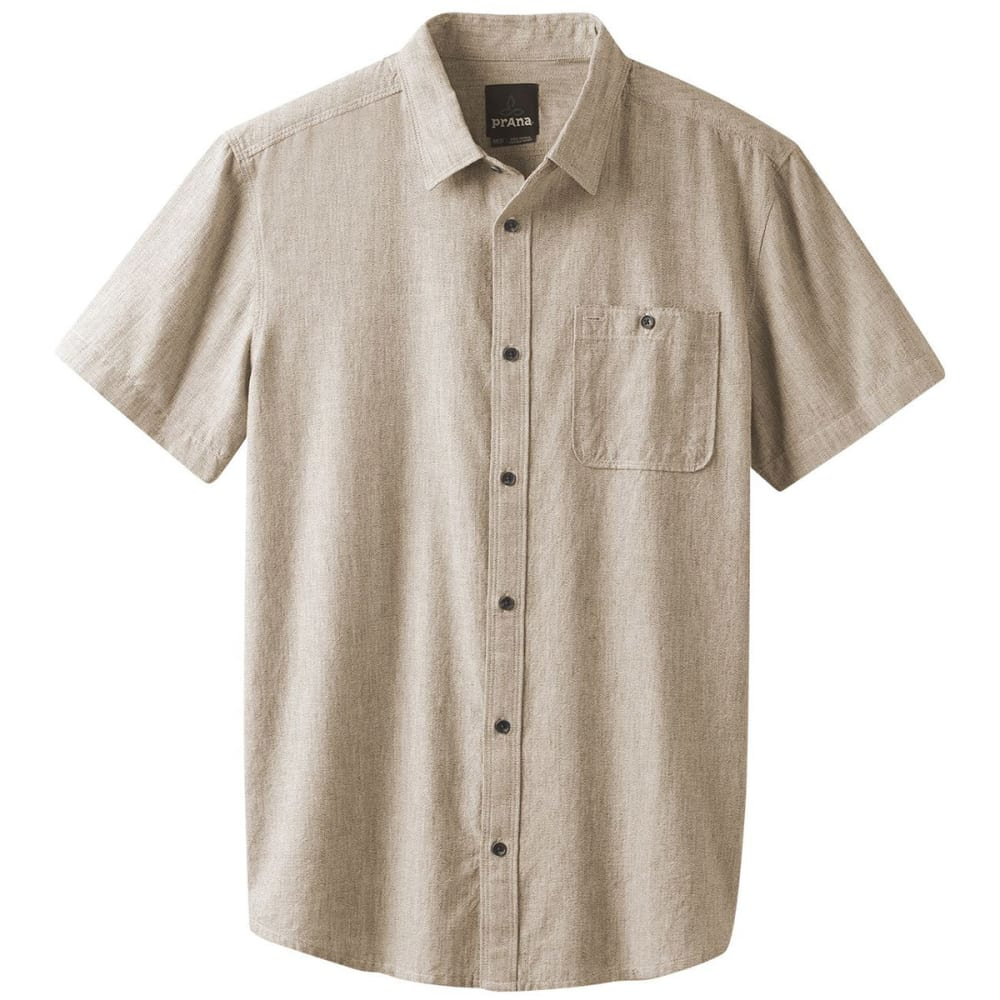 PRANA Men's Jaffra Woven Short-Sleeve Shirt S