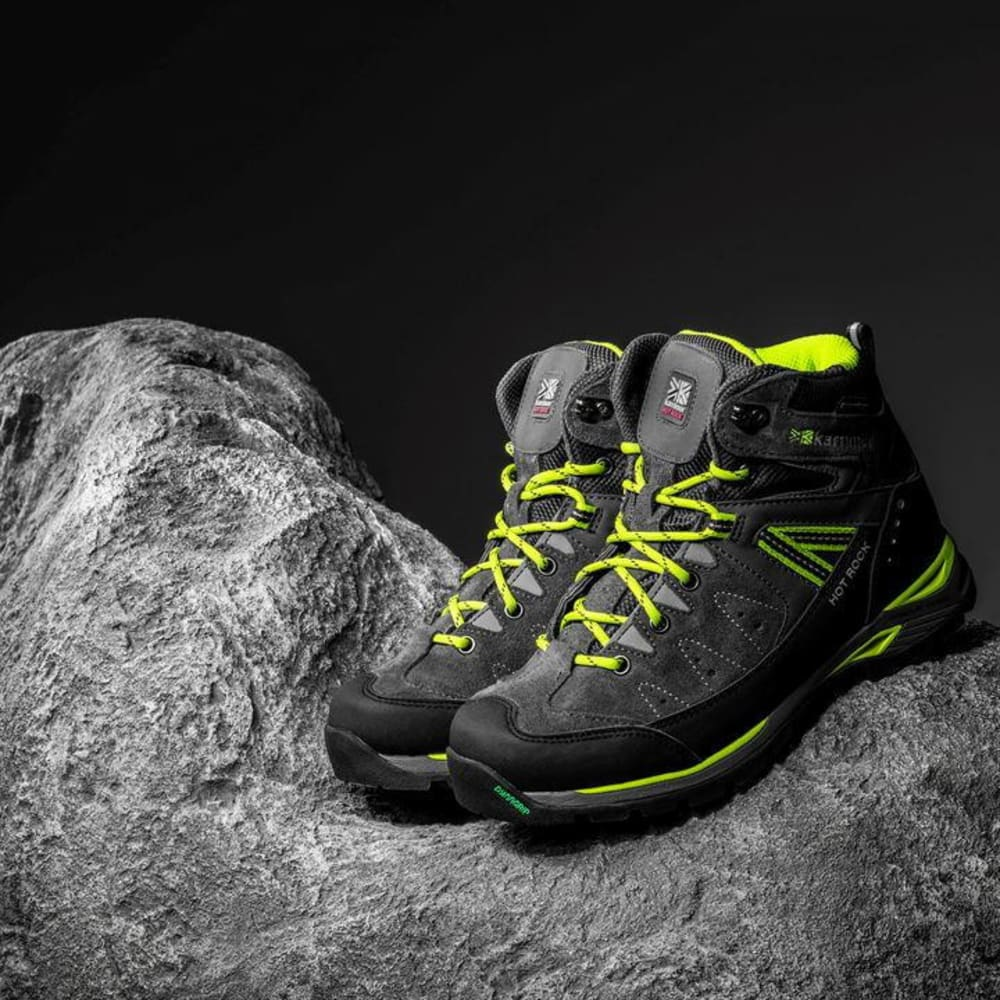 KARRIMOR Little Boys' Hot Rock Mid Waterproof Hiking Boots - CHARCOAL/GREEN