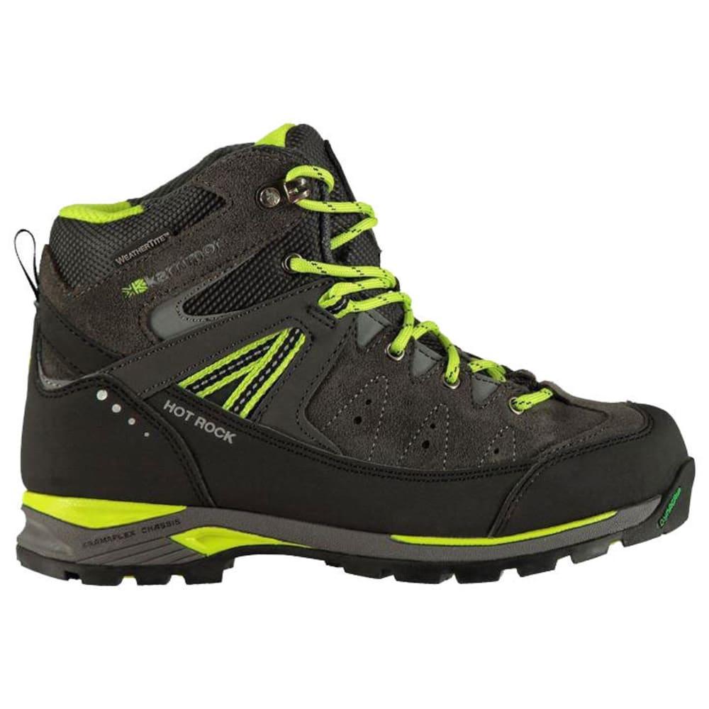 KARRIMOR Little Boys' Hot Rock Mid Waterproof Hiking Boots - CHARCOAL/GREEN