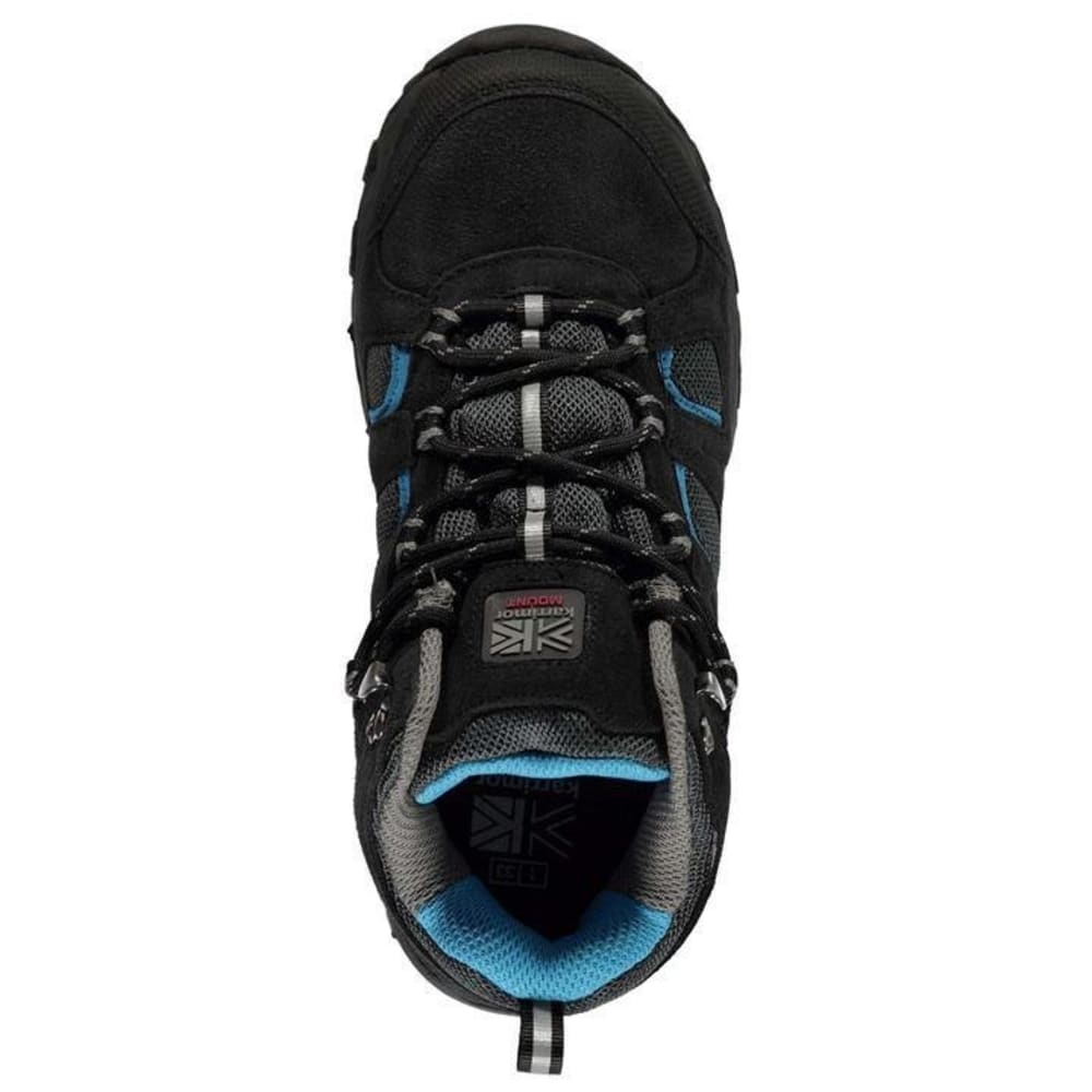 KARRIMOR Little Kids' Mount Mid Waterproof Hiking Boots - BLACK/BLUE