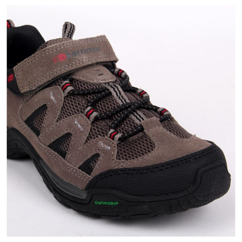 KARRIMOR Kids' Summit Low Hiking Shoes - CHARCOAL/RED