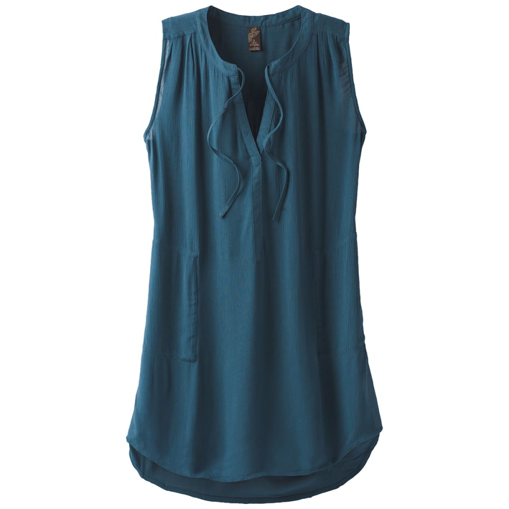 Prana Women's Natassa Crinkled Sleeveless Tunic Top - Size S