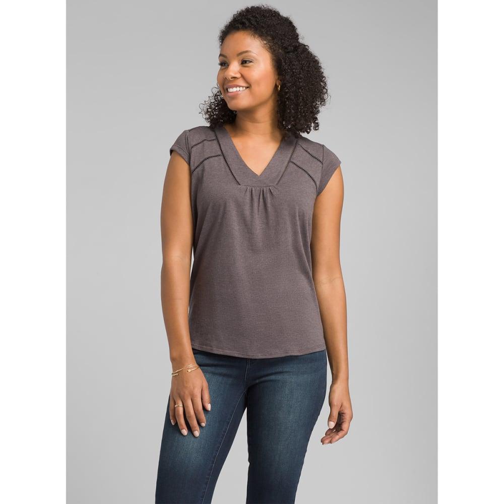 PRANA Women's Novelle Short-Sleeve Top - GRANITE