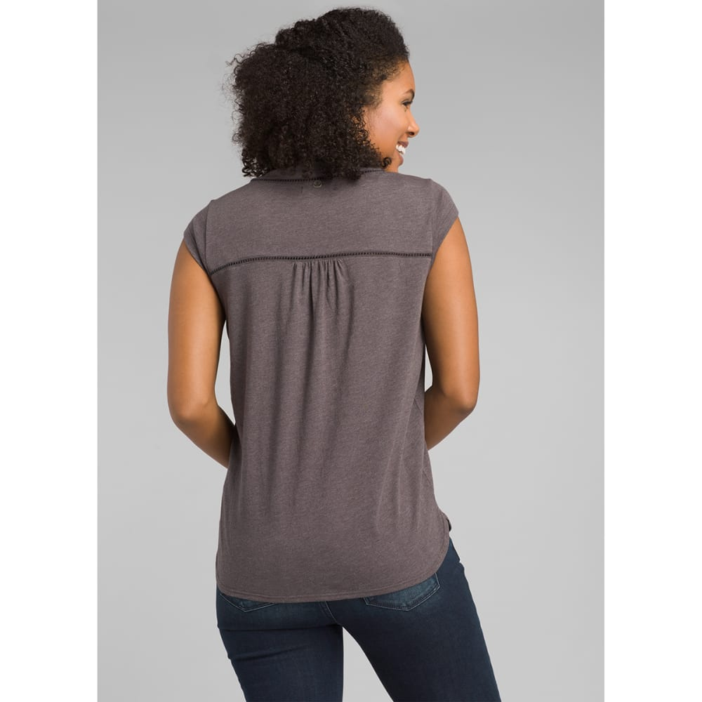 PRANA Women's Novelle Short-Sleeve Top - GRANITE