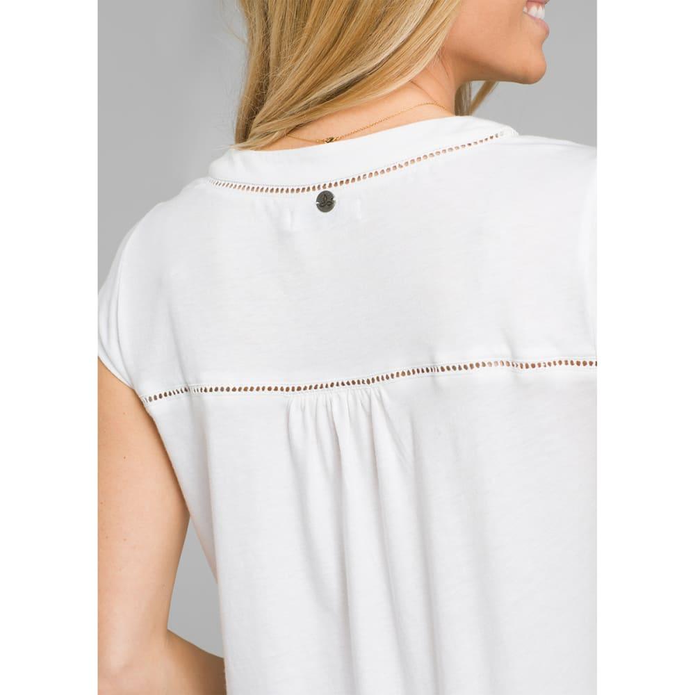 PRANA Women's Novelle Short-Sleeve Top - WHITE