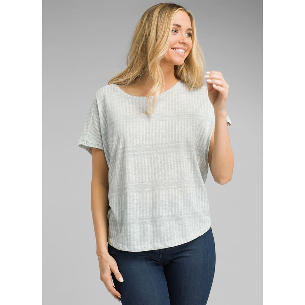PRANA Women's Epley Dolman Short-Sleeve Top - WHT NANI