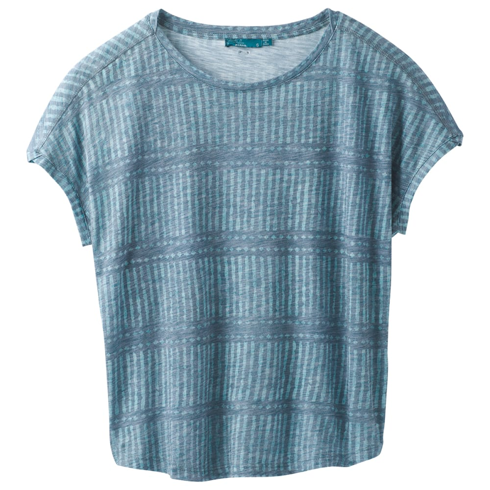 PRANA Women's Epley Dolman Short-Sleeve Top - PETROL NANI