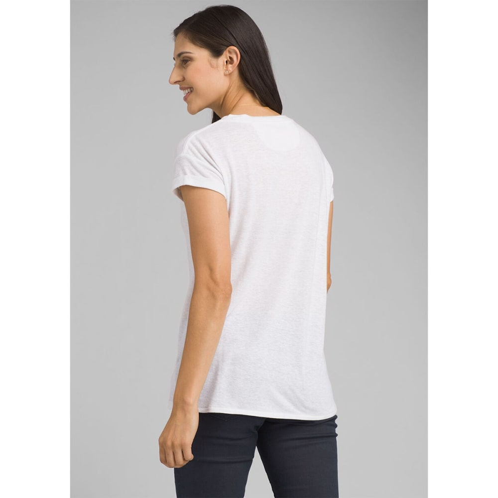 PRANA Women's Cozy Up Short-Sleeve Tee - WHITE