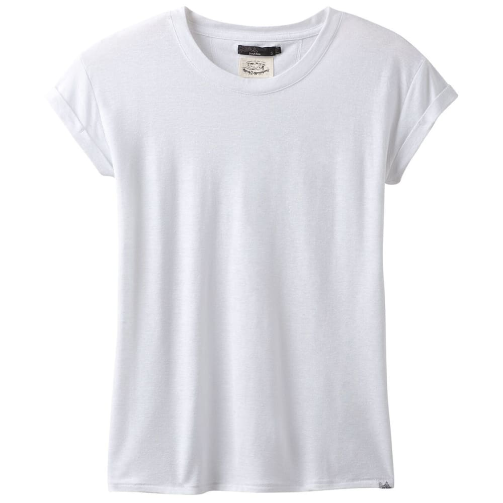 PRANA Women's Cozy Up Short-Sleeve Tee - WHITE