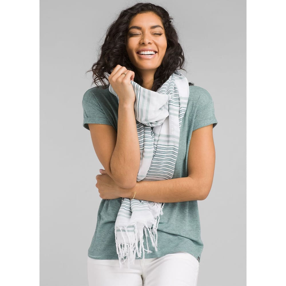 PRANA Women's Cozy Up Short-Sleeve Tee - ICED AQUA HTR