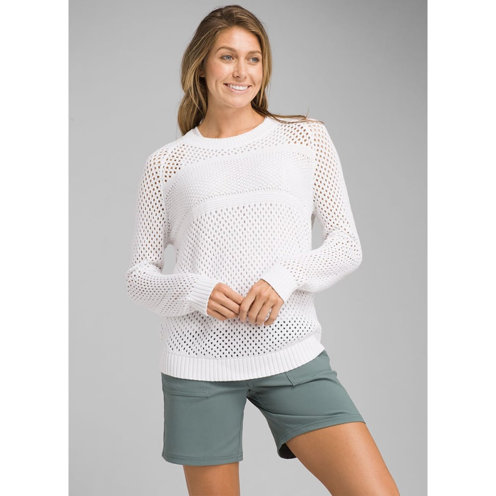 PRANA Women's Kokimo Long-Sleeve Sweater - WHITE