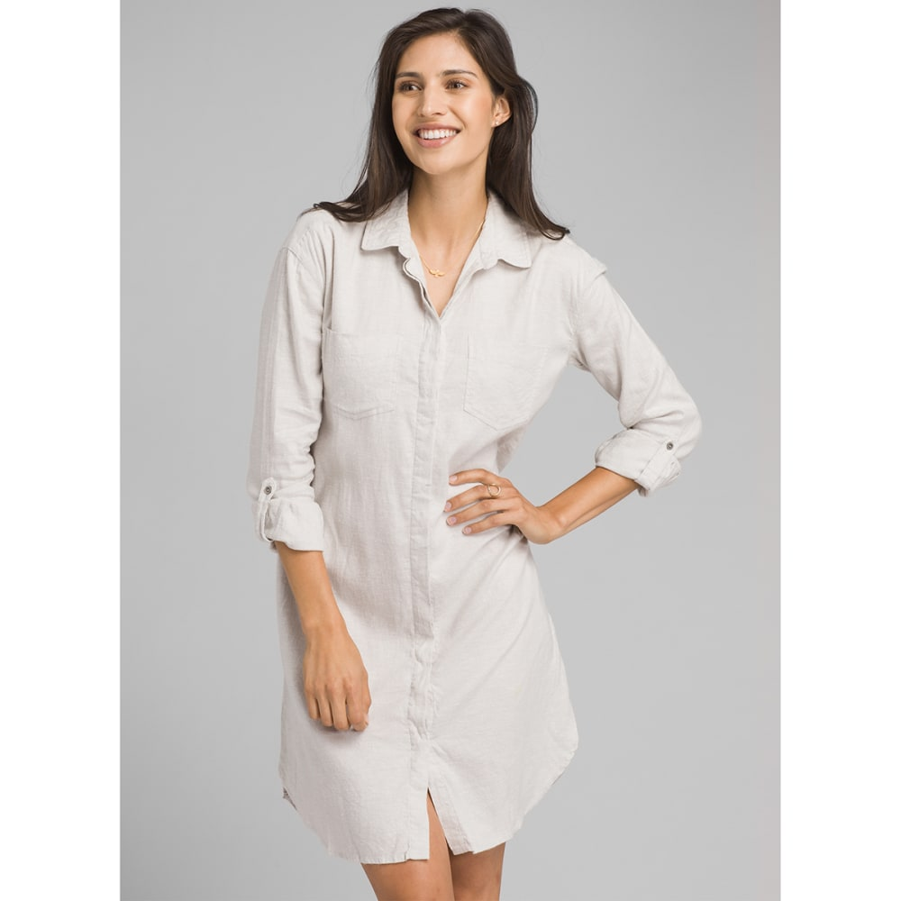 PRANA Women's La Noa Dress - SILVER SPRAY