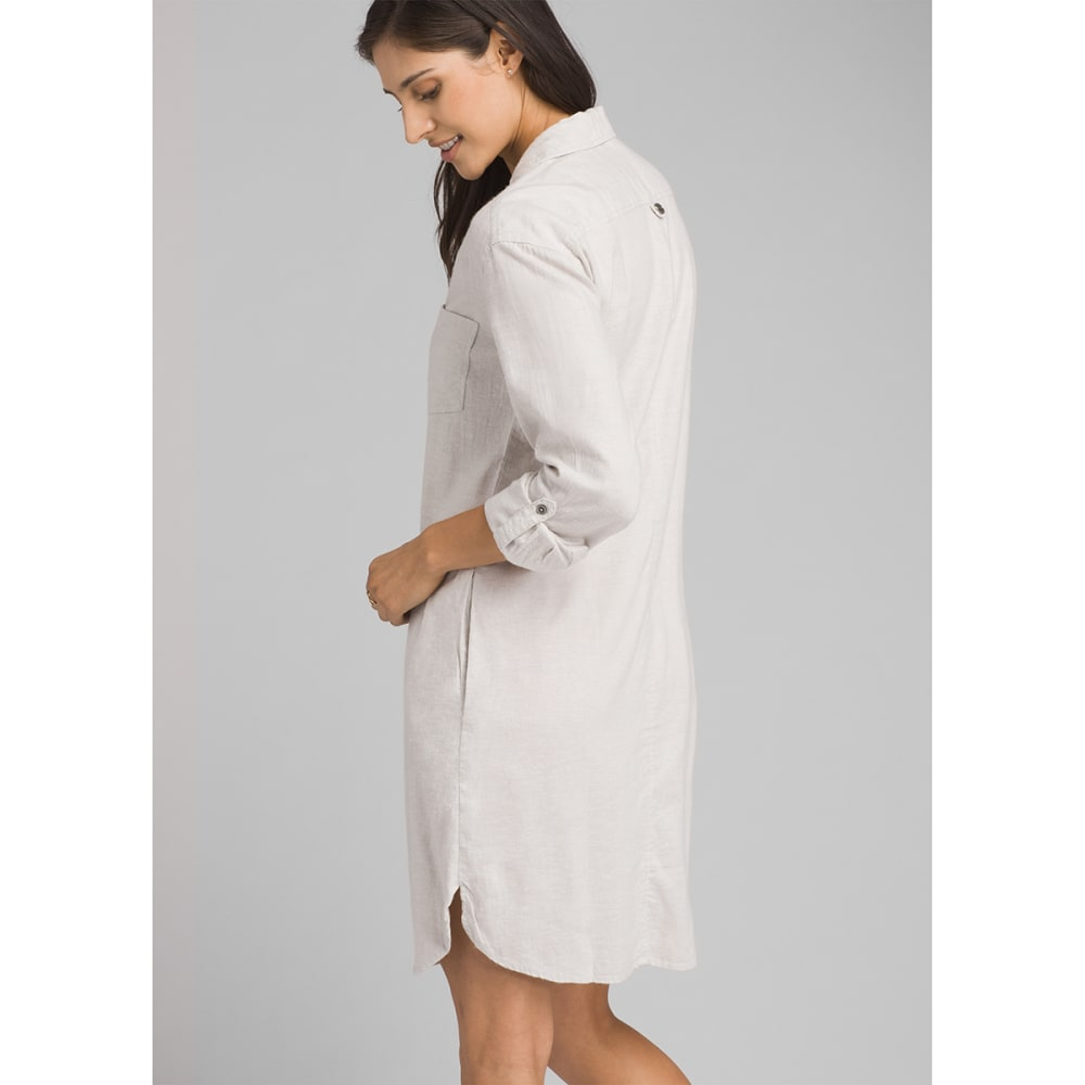 PRANA Women's La Noa Dress - SILVER SPRAY