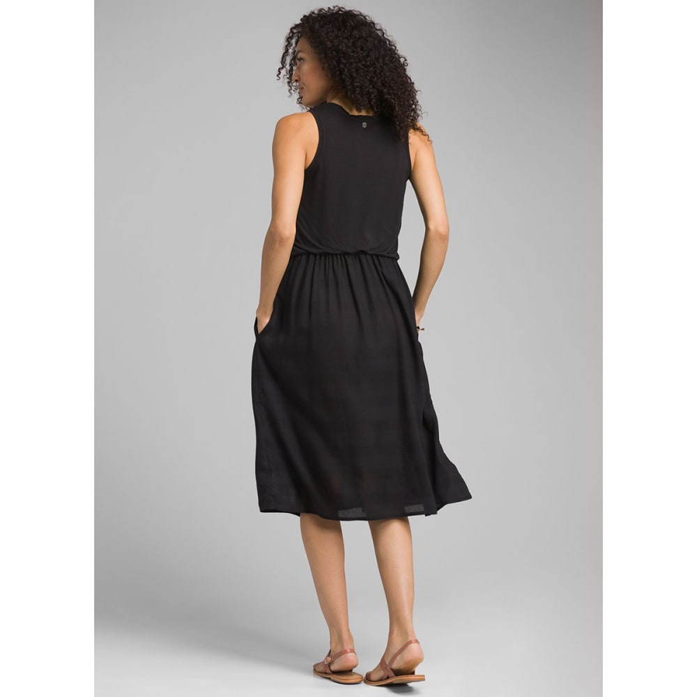 PRANA Women's Perry Midi Dress - BLACK
