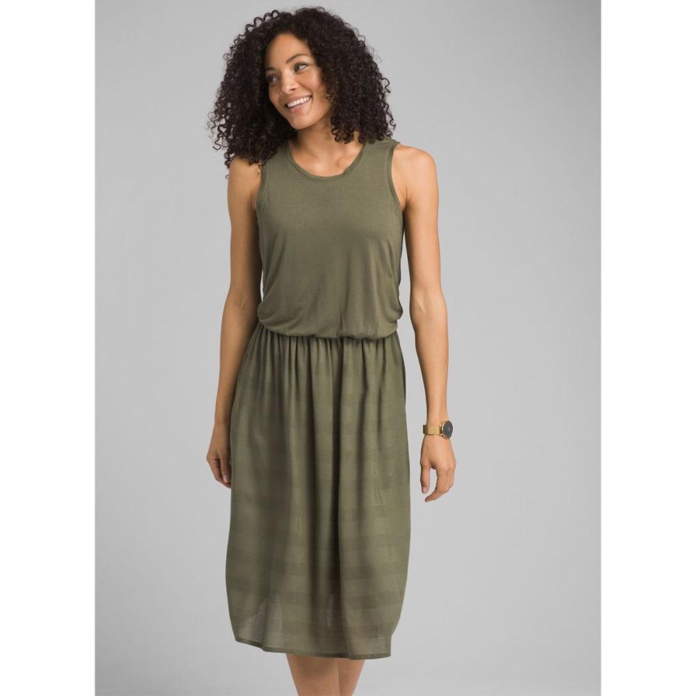 PRANA Women's Perry Midi Dress - CARGO GREEN
