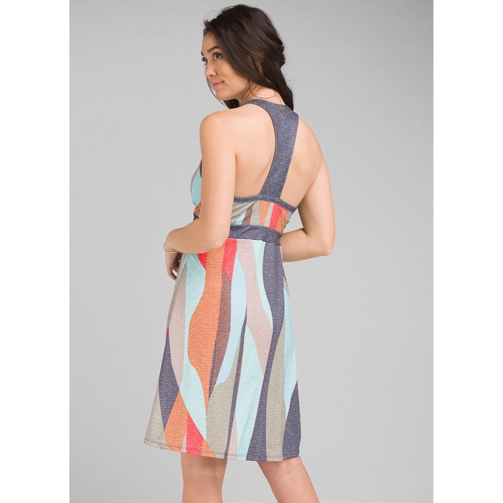 PRANA Women's Calexico Dress - Charcoal Wavy