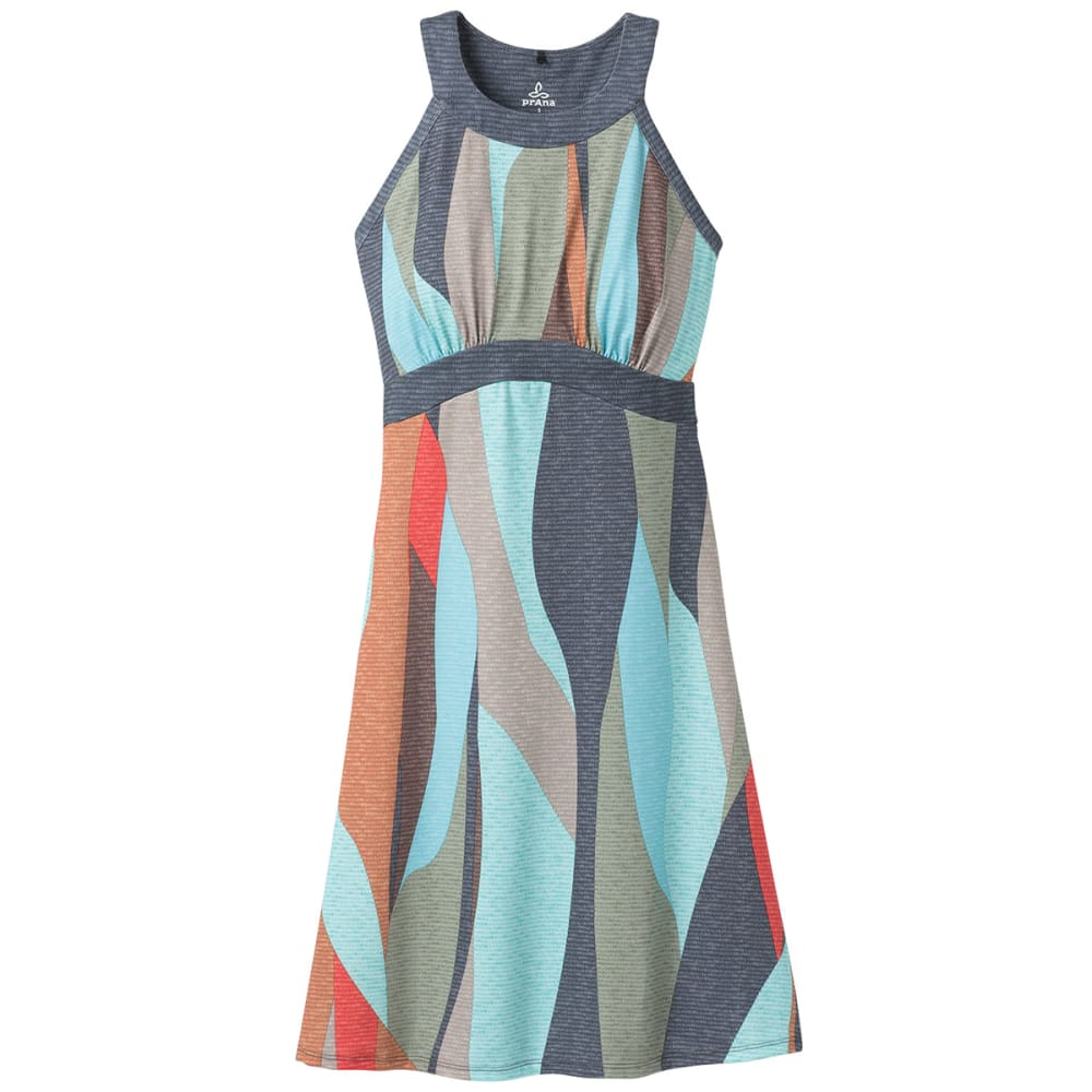 PRANA Women's Calexico Dress - Charcoal Wavy