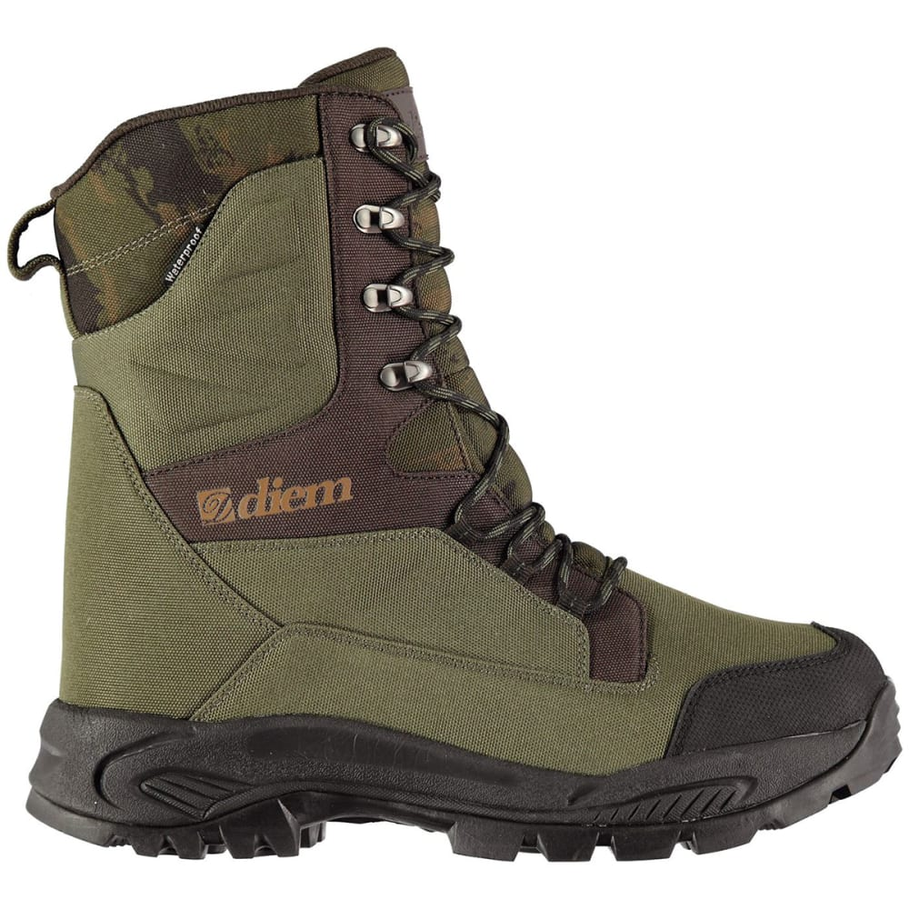 DIEM Men's All Terrain Tall Insulated Waterproof Fishing Boots - GREEN