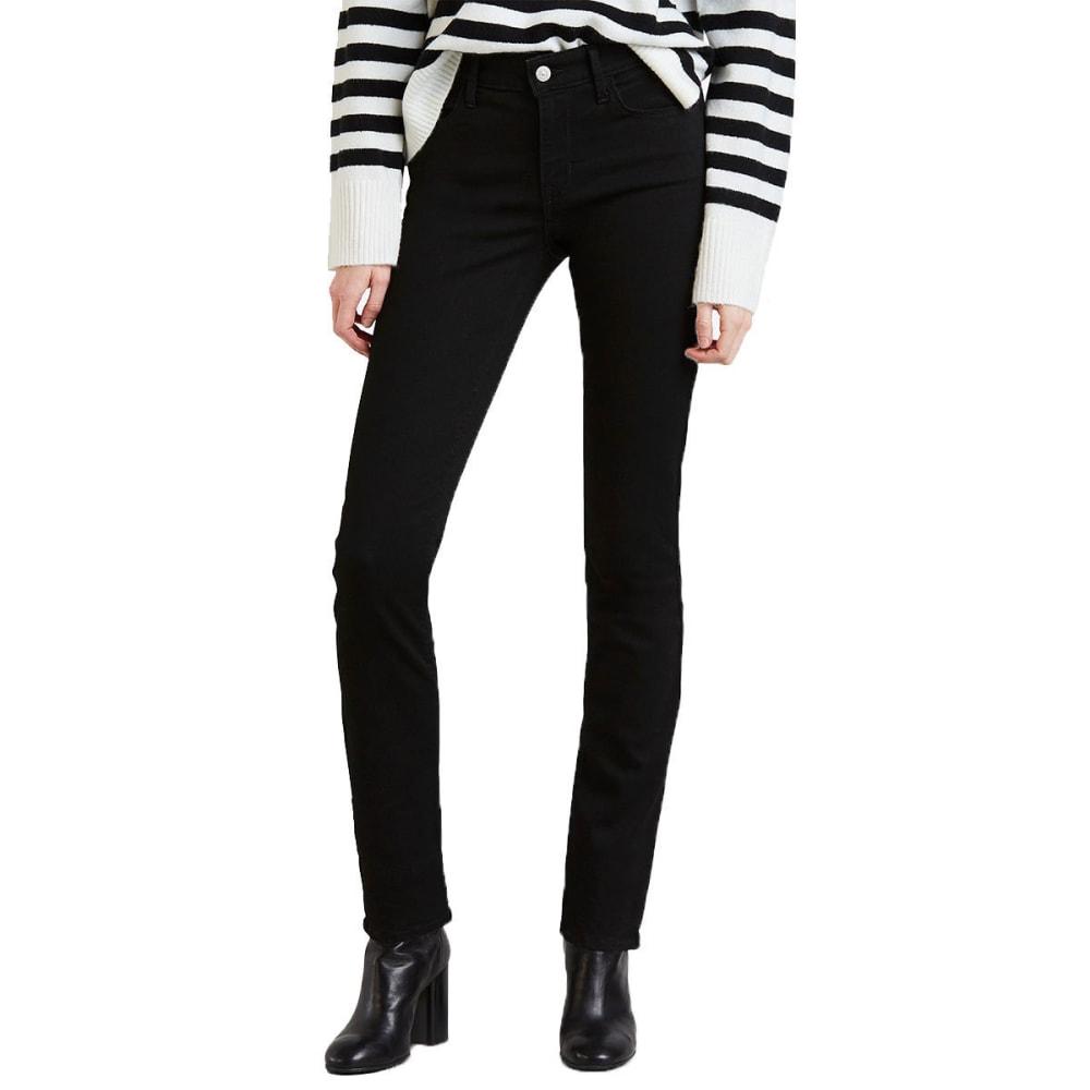 LEVI'S Women's Mid Rise Skinny Jeans, Regular Length - BLACKEST NIGHT 0164