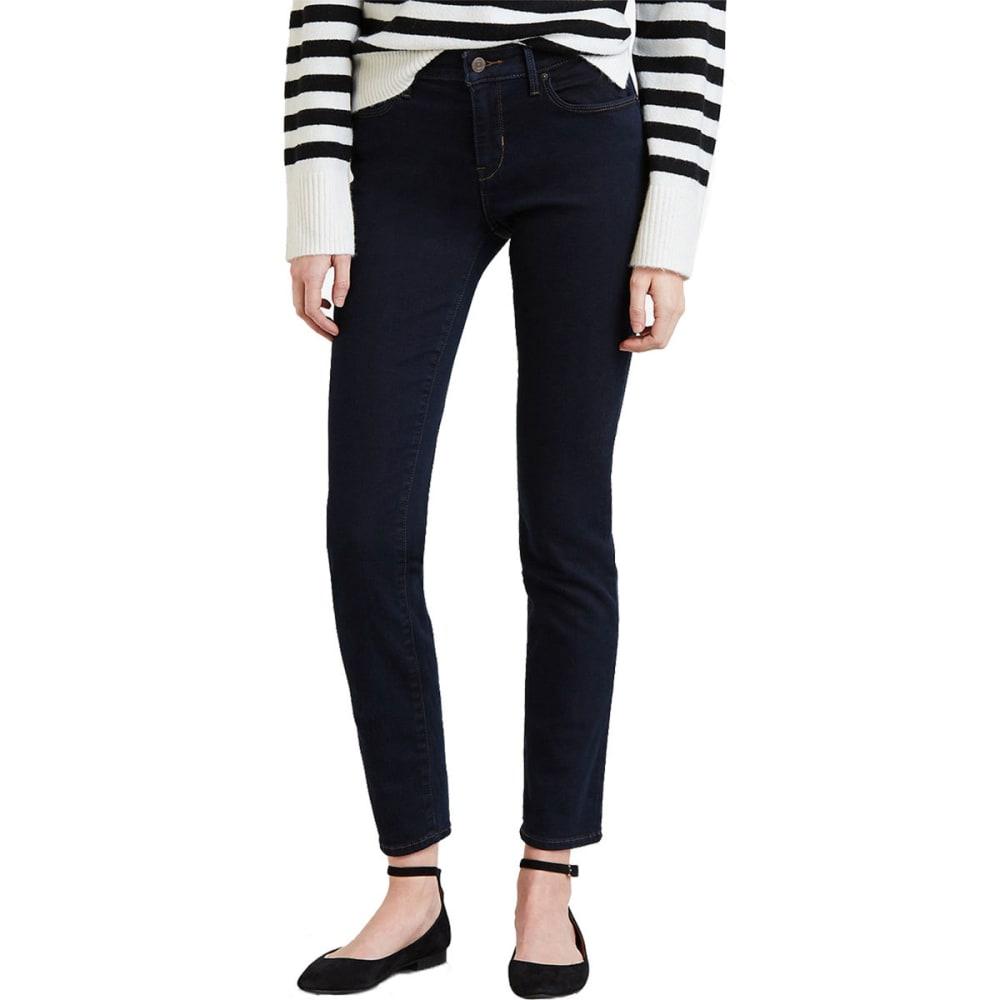 LEVI'S Women's Mid Rise Skinny Jeans, Regular Length - DEEP INDIGO 0165