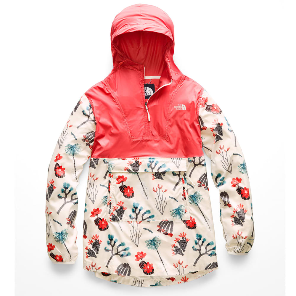 THE NORTH FACE Women's Printed Fanorak Jacket - AT3- SPICED CORAL
