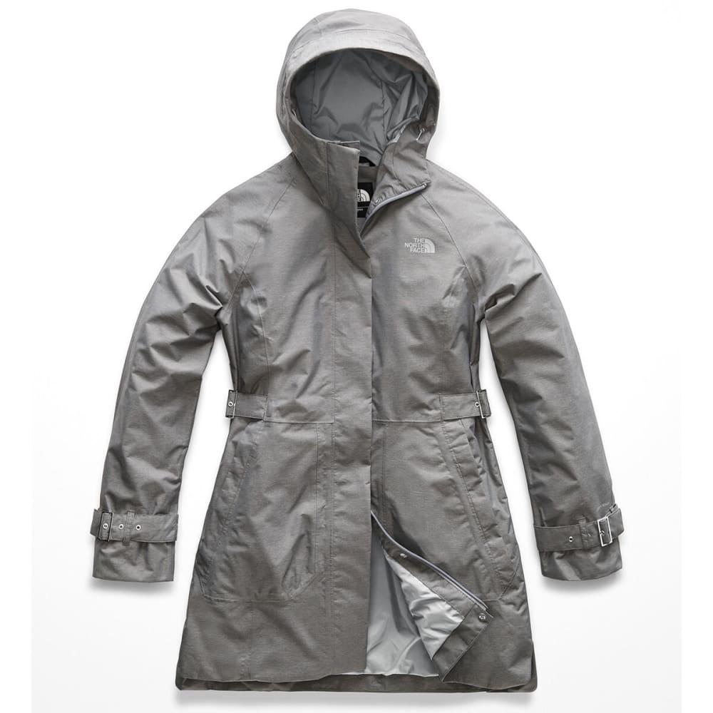 THE NORTH FACE Women's City Breeze Rain Trench Jacket - DYY TNF M GRY HEATHE