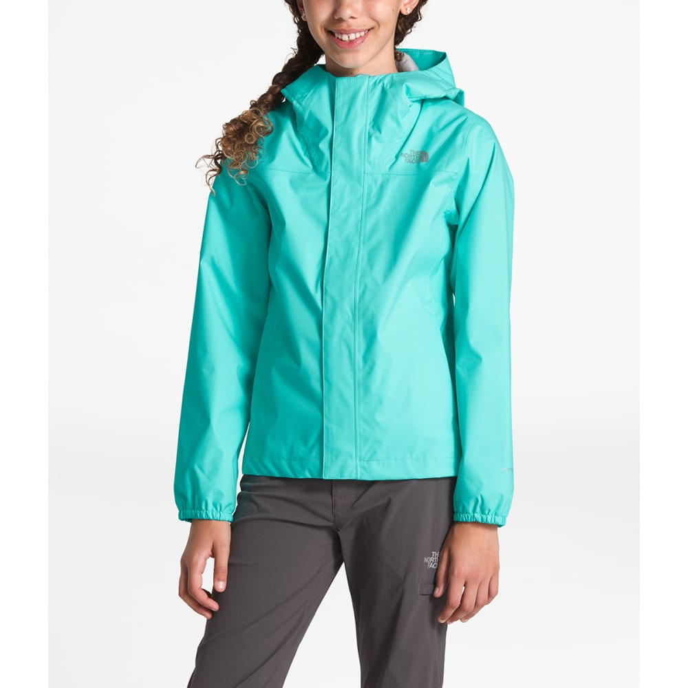 THE NORTH FACE Girls' Resolve Reflective Jacket - N2P- MINT BLUE
