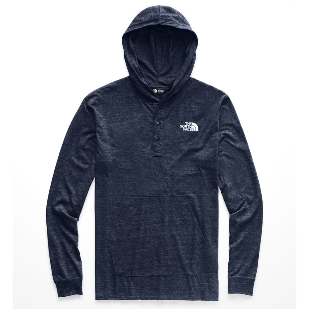 THE NORTH FACE Men's Tri-Blend Henley Hoodie - 6NL-U NAVY TNF WHT