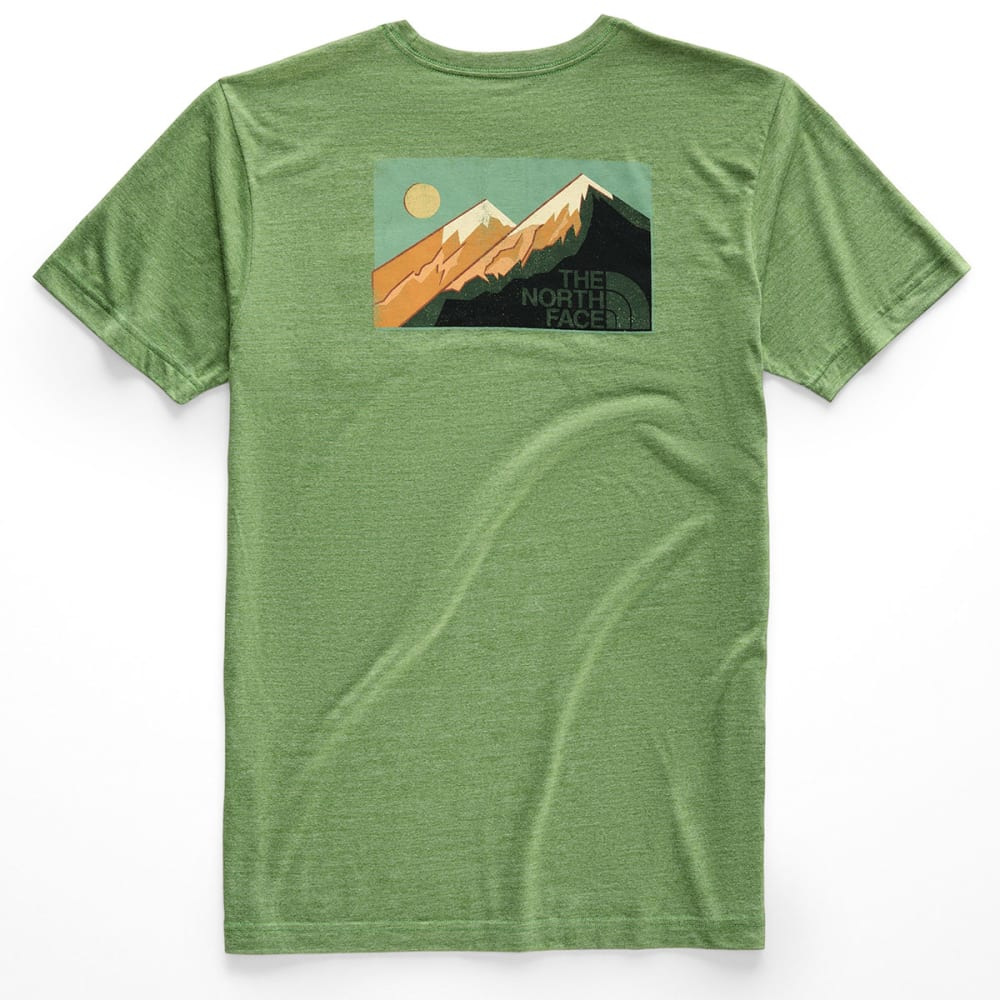 THE NORTH FACE Men's Gradient Desert Tri-Blend Pocket Short-Sleeve Tee - 9FX-GARDEN GREEN HEA