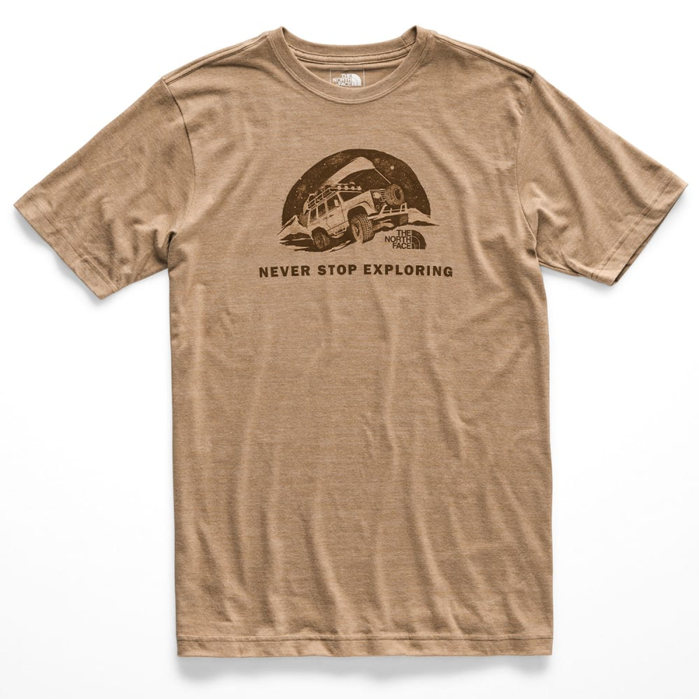 THE NORTH FACE Men's Pony Wheels Tri-Blend Short-Sleeve Tee - QBW KELP TAN