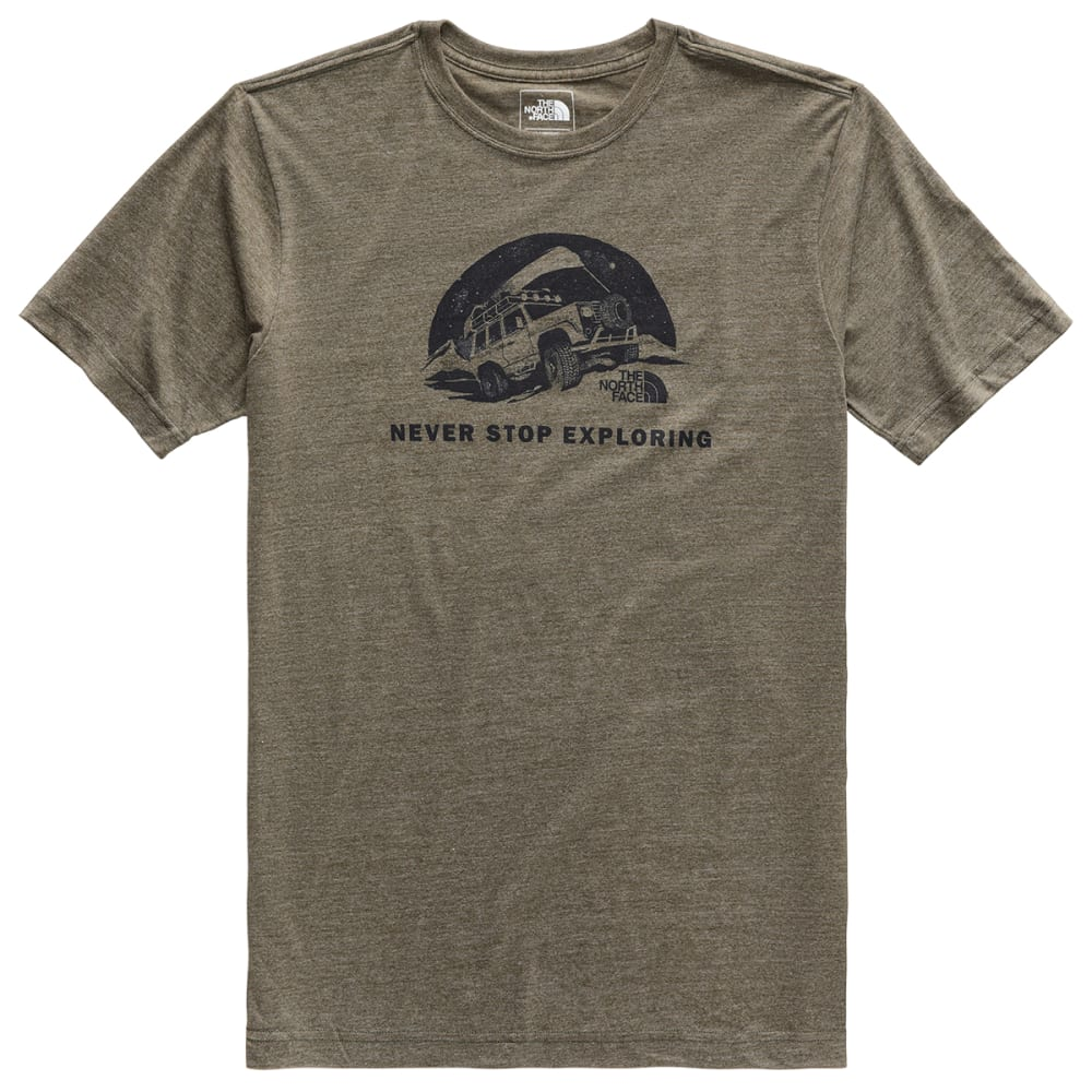 THE NORTH FACE Men's Pony Wheels Tri-Blend Short-Sleeve Tee S