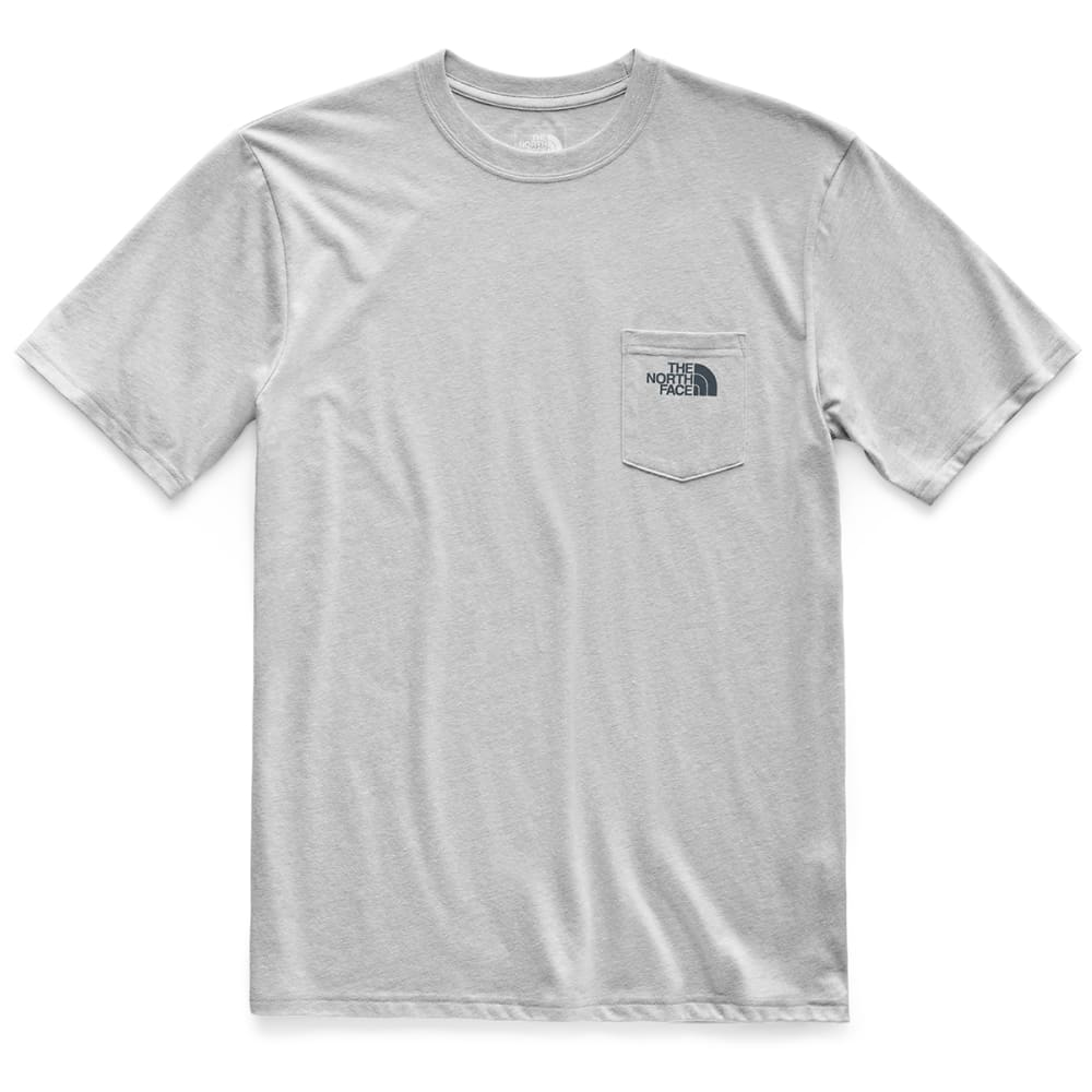 THE NORTH FACE Men's Bottle Source Pocket Short-Sleeve Tee - DYX TNF LT GRY HEAT