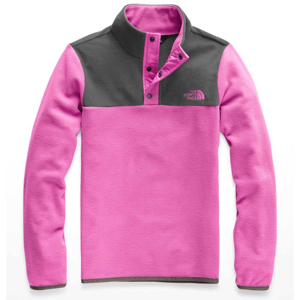 THE NORTH FACE Girls' Glacier 1/4 Snap Fleece Pullover - A7M WISTERIA PURPLE