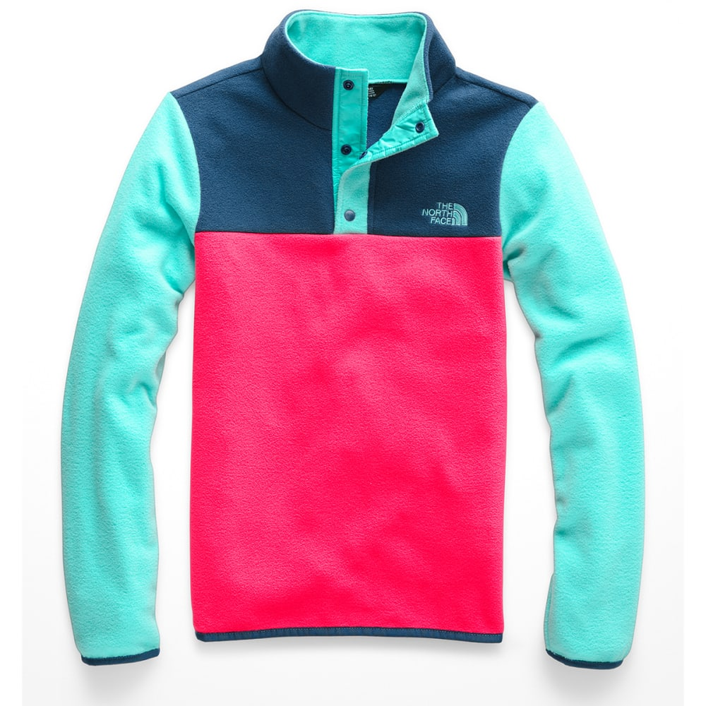 THE NORTH FACE Girls' Glacier 1/4 Snap Fleece Pullover - 4CK ATOMIC PINK
