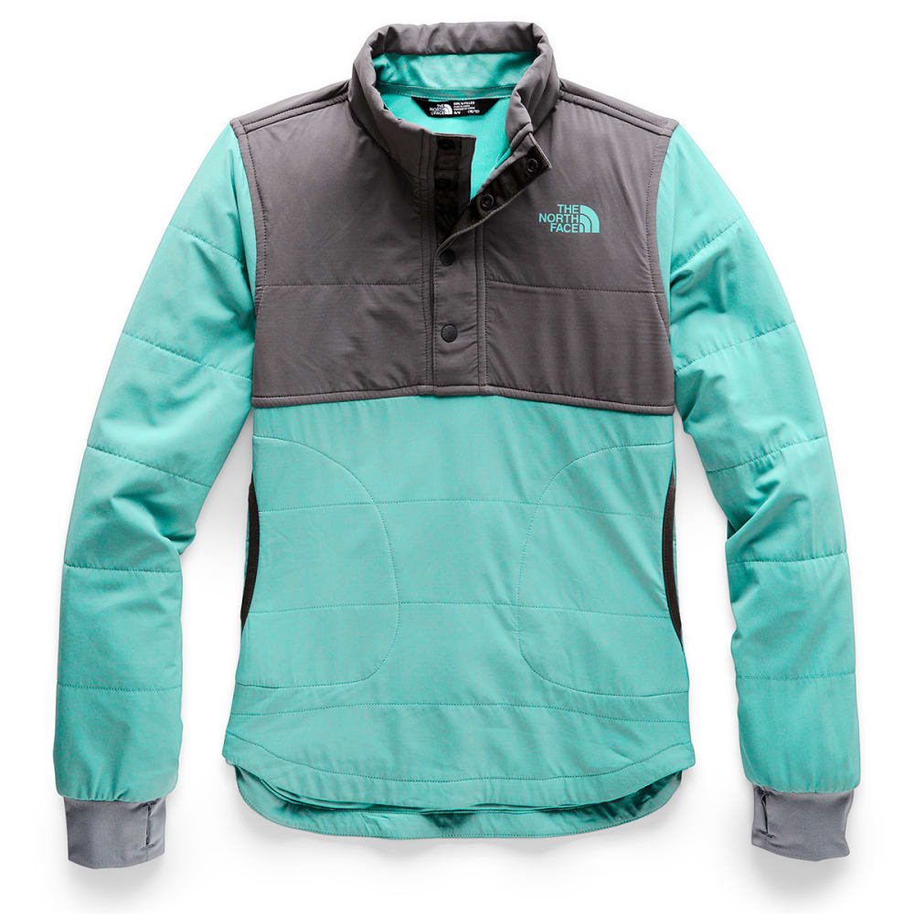 THE NORTH FACE Girls' Mountain Quarter Snap Neck Sweatshirt - N2P MINT BLUE