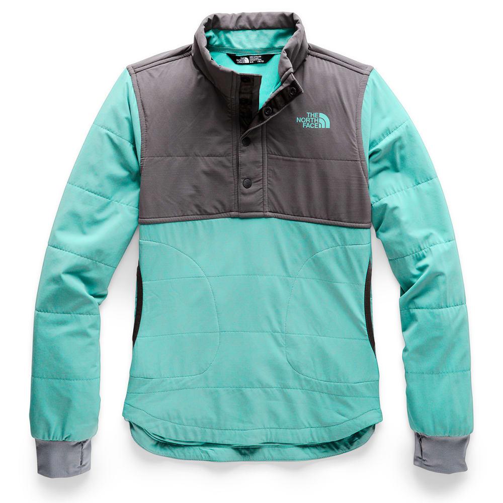 THE NORTH FACE Girls' Mountain Quarter Snap Neck Sweatshirt - N2P MINT BLUE
