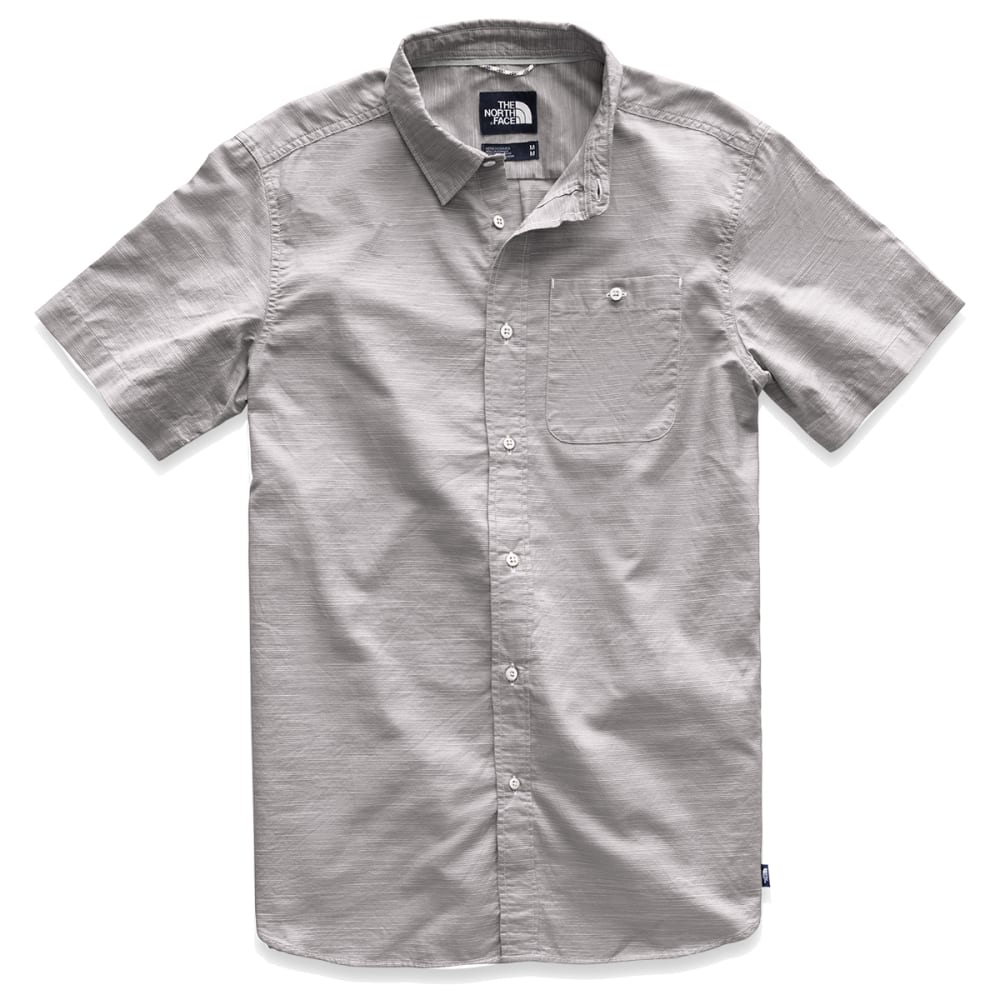 THE NORTH FACE Men's Buttonwood Short-Sleeve Shirt - 9SJ MID GRY PLAID