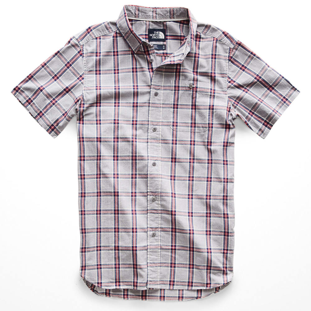 THE NORTH FACE Men's Buttonwood Short-Sleeve Shirt - 9SK-MEDIUM GRY PLAID