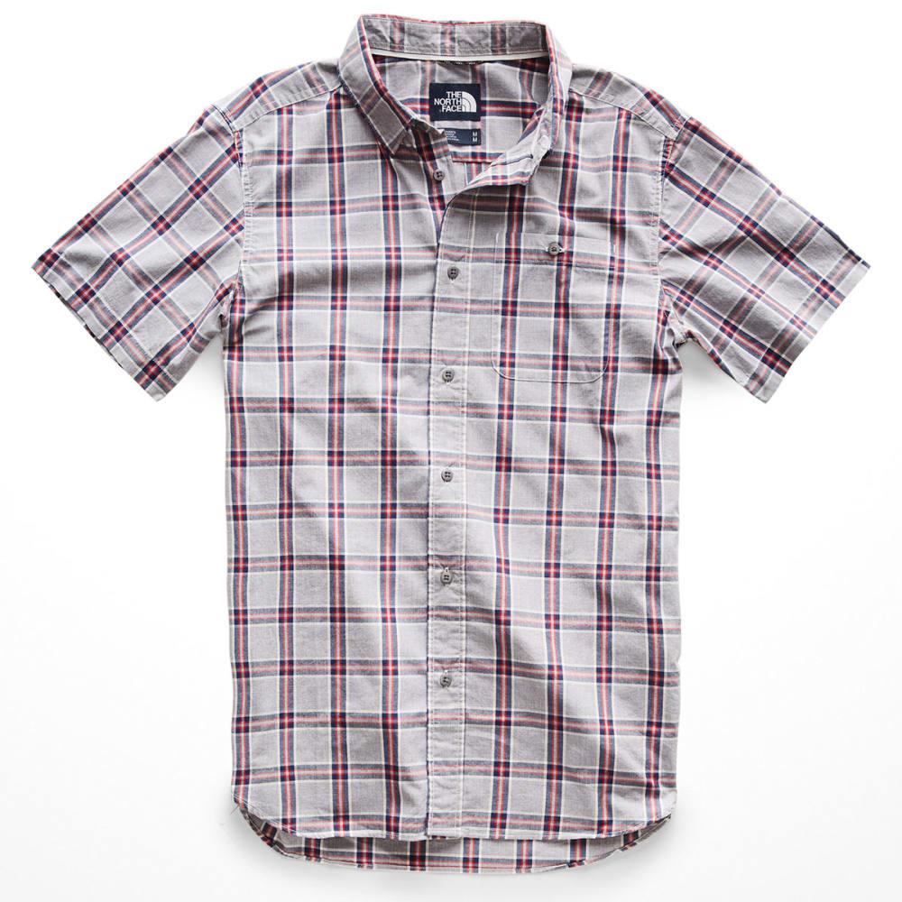 THE NORTH FACE Men's Buttonwood Short-Sleeve Shirt - 9SK-MEDIUM GRY PLAID
