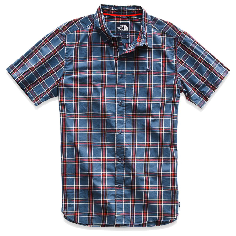 THE NORTH FACE Men's Buttonwood Short-Sleeve Shirt - 9SN SHADY BLUE PLAID