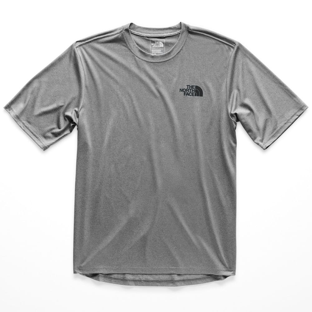 THE NORTH FACE Men's LFC Reaxion Crew Short-Sleeve Tee - GVD-TNF GRY/TNF BLAC