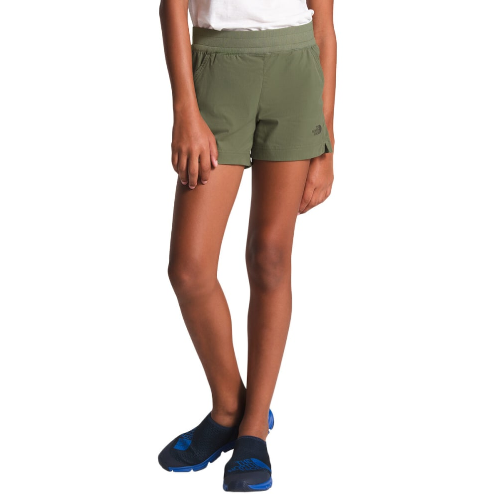 THE NORTH FACE Girls' Aphrodite Shorts - ZCE FOUR LEAF CLOVER