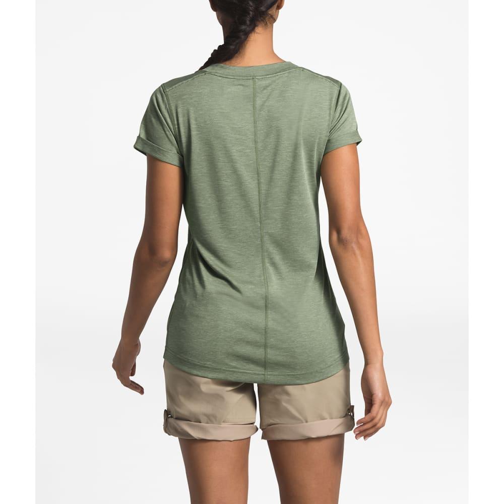 THE NORTH FACE Women's HyperLayer FD V-Neck Short-Sleeve Tee - 1LR FOUR LEAF CLOVER