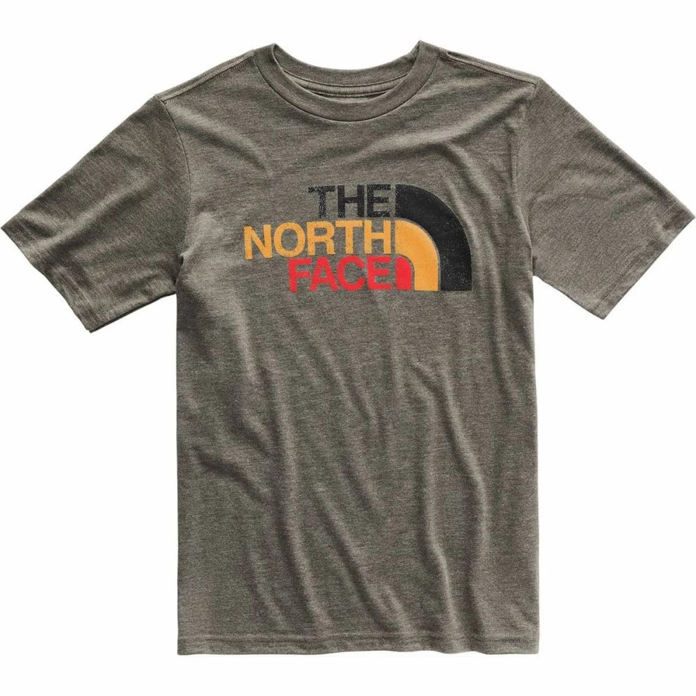 THE NORTH FACE Boys' Tri-Blend Short-Sleeve Tee - 9KY NEW TAUPE GREEN