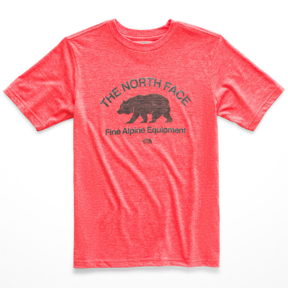 THE NORTH FACE Boys' Tri-Blend Short-Sleeve Tee - V6P FIERY RED HEATHE