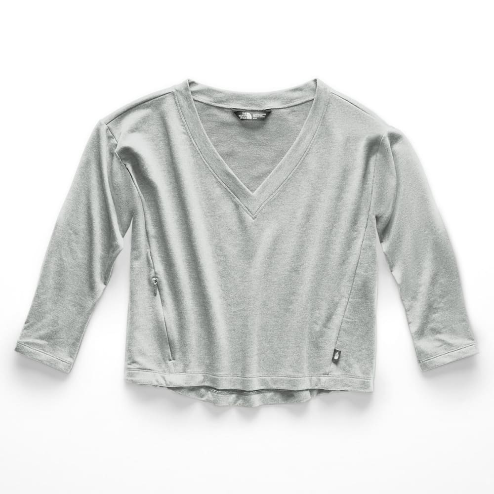 The North Face Women's Bayocean V-Neck Long-Sleeve Crop Top - Size L